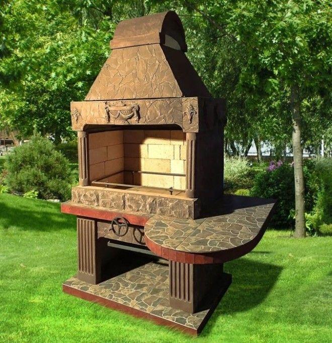 Сделанная на заказ печьбарбекю в старинном греческом стиле