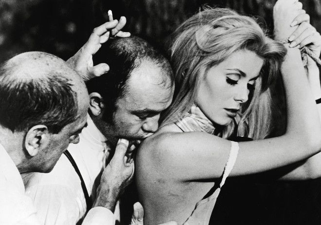 Director Luis Bunuel and Catherine Deneuve Belle De Jour 1967 Local Caption