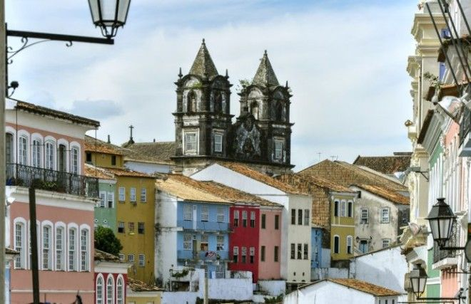 Pelourinho district in Salvador de Bahia Brazil